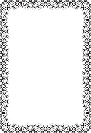 scroll: Scroll perfect ornament art border on white