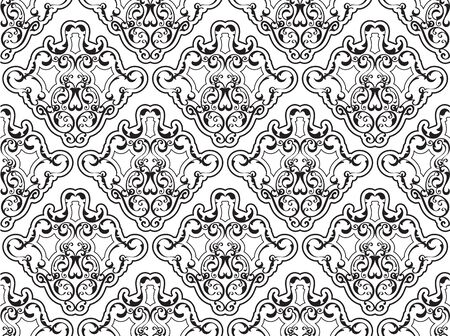 antique art: Seamless orient good pattern is on white