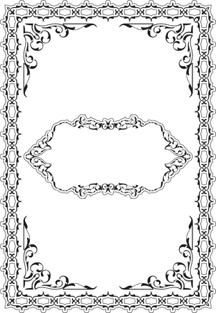 The vintage ornamente scroll fine page on white Illustration