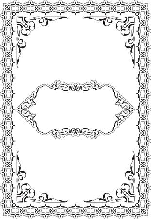 ornamente: The vintage ornamente scroll fine page on white Illustration