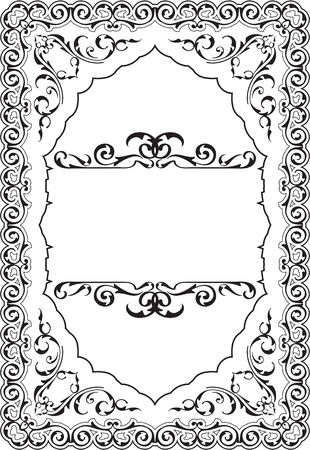 scroll border: The scroll perfect ornament art border on white Illustration
