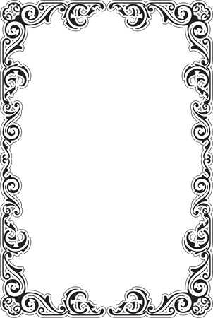 ornament frame: The perfect ornament frame is on white Illustration