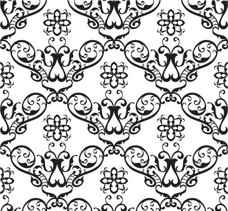 figuration: Seamless ornament nice pattern on white