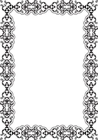 art frame: The orient ornate art frame is on white