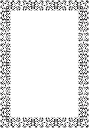 barok ornament: Barokke ornament frame op wit