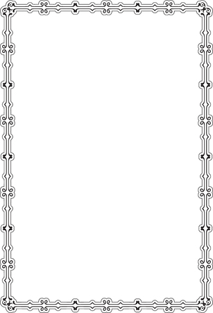 victorian frame: Vintage victorian frame is on white