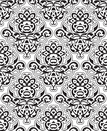 scroll tracery: Baroque seamless art isolated on white Illustration
