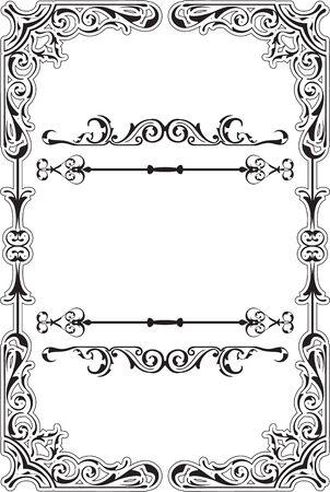scroll border: Scroll ornane swirll border is on white Illustration
