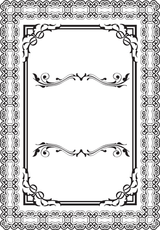 florid: Victorian frame is isolated on white