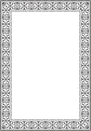 scroll: Scroll ornane ornament border is on white