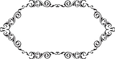 ornamente: Art vintage ornamente scroll fine page on white