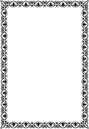 scroll: The victorian ornate scroll page on white Illustration