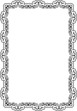 art frame: Baroque ornate art frame on white
