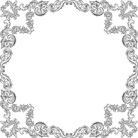 Vintage luxury ornamente frame on white Illustration