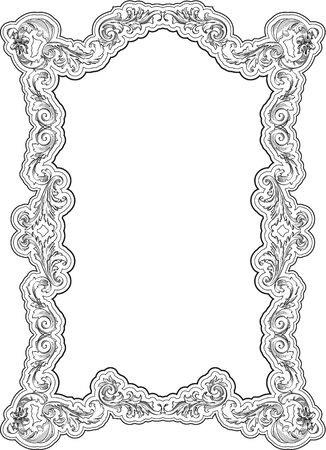 Vintage ornate frame