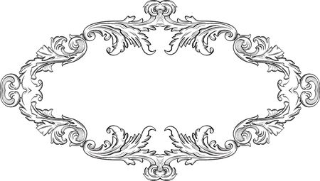 acanthus: Orient acanthus good frame is on white