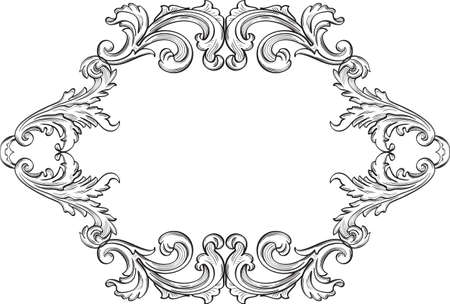 acanthus: The acanthus art  nice vintage page is on white