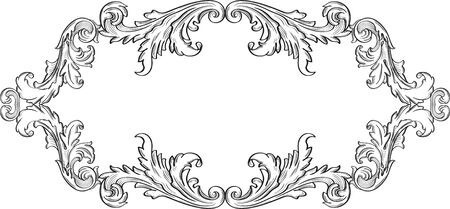 acanthus: Orient acanthus art good frame on white Illustration