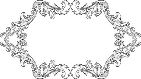Orient acanthus page is on white Imagens - 45551504