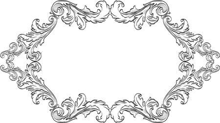 Orient acanthus pagina is op witte