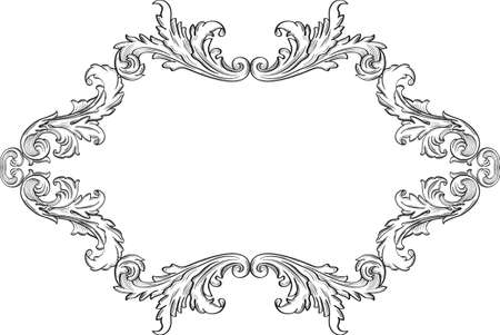 acanthus: Orient acanthus frame is on white