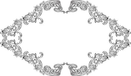 acanthus: Vintage acanthus nice ornament art frame on white