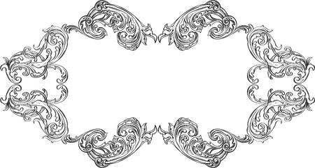 acanthus: Ornate acanthus frame is on white