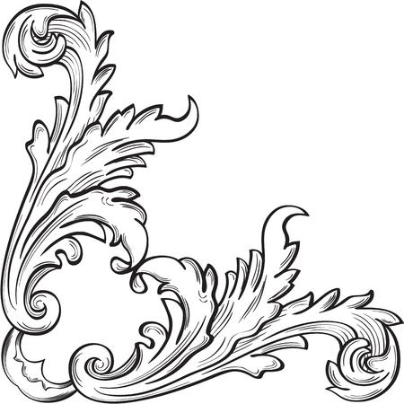 figuration: The corner good elements on white Illustration