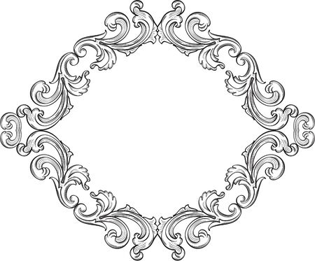 florid: Ornate victorian fine greeting page on white Illustration