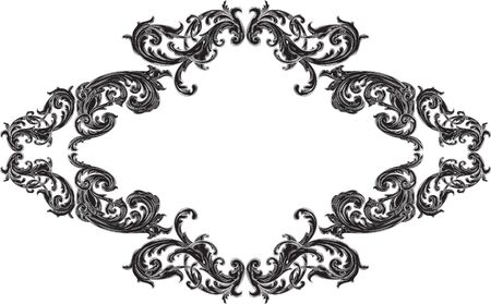 acanthus: Nice frame with acanthus pattern on white