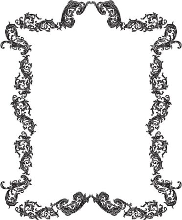 art frame: Baroque vintage nice art frame is on white