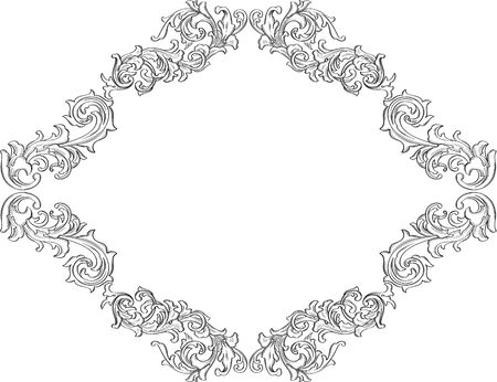 acanthus: The black acanthus single frame on white
