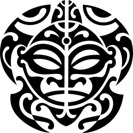 maories: Tortuga maor� es aislado en blanco