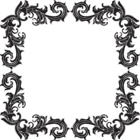 figuration: Black retro frame