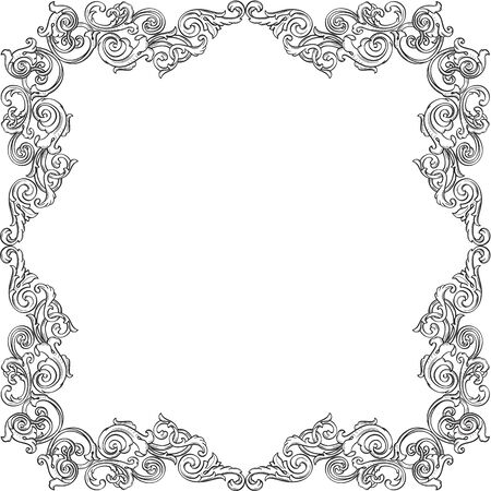 figuration: Victorian real ornate border isolated on white