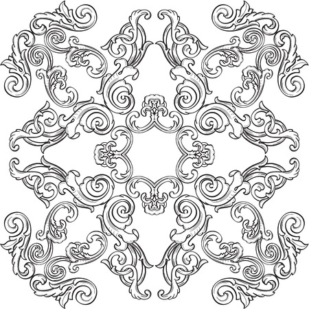 florid: Luxury nice rosette is isolated on white