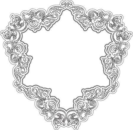 Triangle retro frame isolated on white