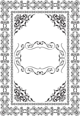 figuration: Baroque nice page isolated on white