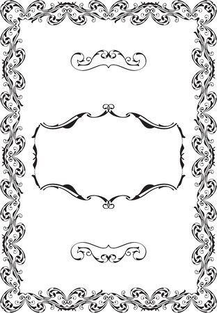 gothic style: Vintage ornate luxury art baroque frame isolated on white