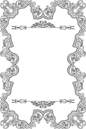 figuration: Retro fine frame isolated on white Illustration