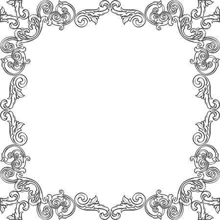 figuration: Luxury art frame is on white Illustration