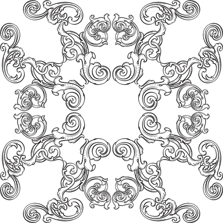 figuration: Orient real ornate art rosette isolated on white