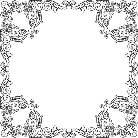 figuration: Victorian real ornate art frame isolated on white