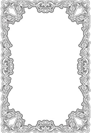 figuration: Vintage ornate page isolated on white Stock Photo