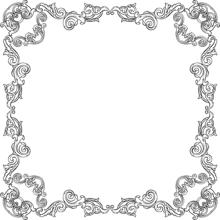 figuration: Victorian frame is isolated on white