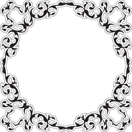 renaissance: Art renaissance nice frame isolated on white Illustration