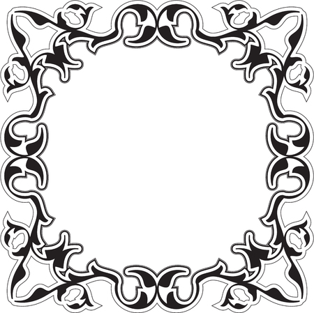 figuration: Ornate retro baroque frame is isolated on white