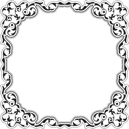 renaissance: Art renaissance frame isolated on white