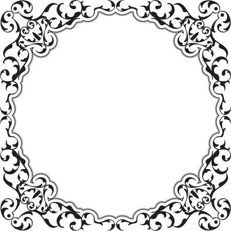 renaissance: Ornate renaissance frame is isolated on white Illustration