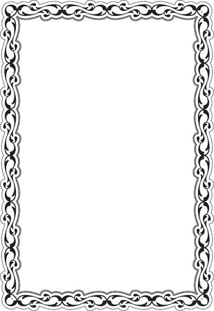 renaissance: Decor renaissance frame isolated on white
